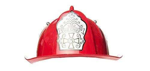 LG-Imports Kinder 2861k-2 Feuerwehrhelm Amerika-rot-Plastik, OneSize
