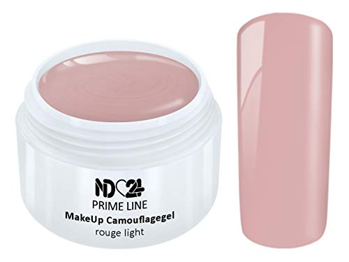 5ML - PRIME LINE - UV LED Gel MAKE UP CAMOUFLAGE ROUGE LIGHT French Farbgel Cover Modellage Aufbau - MADE IN GERMANY