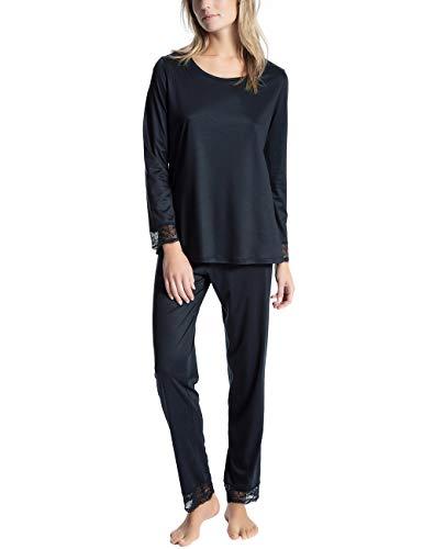 CALIDA Damen Cosy Bamboo Zweiteiliger Schlafanzug, Blau (Midnight Blue 458), 34 (Herstellergröße:XXS)