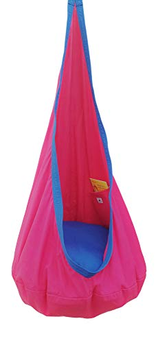 Kids Hanging Cocoon with Pocket, Hanging Hammock Pod, Indoor and Outdoor Fun, Reading, Relaxation,...