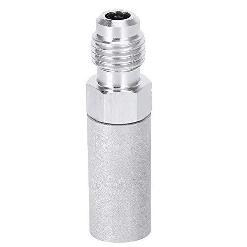 Fdit Homebrew - Rosca de Piedra de oxígeno de difusión de Acero Inoxidable 316 1/4in Accesorio para elaboración de Cerveza Utilizado con Tanques de oxígeno o Bombas de aireación