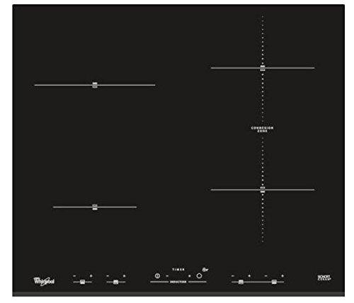Whirlpool ACM 932/BF kookplaat (geïntegreerd, inductie, keramiek, touch-knoppen voor, 230 V) zwart