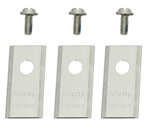 3-teiliges Ersatzmesser-Set inkl. Schrauben für den Grizzly Mähroboter MR 1000 Blackline und Grizzly Mähroboter MR 400 Blackline