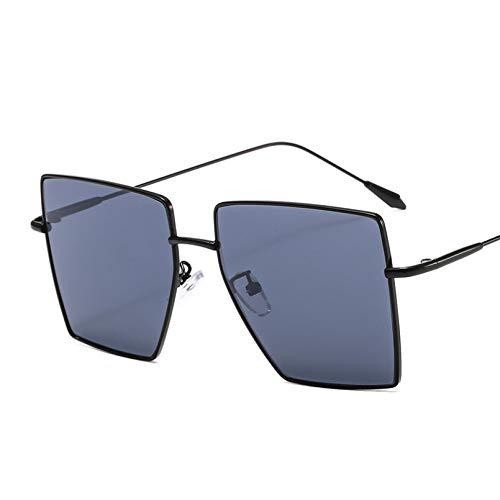 SXRAI Gafas de Sol cuadradas Mujer Gafas de Sol para Hombre Gafas Negras de Gran tamaño,C1