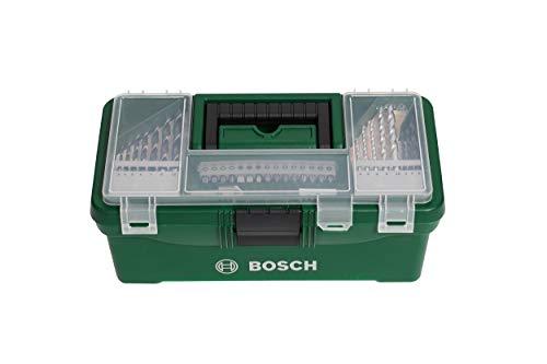 Bosch 73tlg. DIY Starter Box Set (Holz, Stein und Metall, Heimwerken, Zubehör Bohr- und Schraubwerkzeuge)