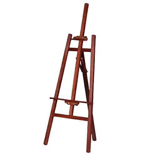Caballete de madera maciza para bosquejar al óleo, soporte plegable de madera, negro, marrón, madera, nogal (color: nogal, tamaño: 1,5 m)