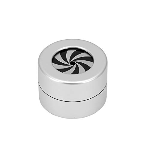 None Brand Anneau de Mariage boîte-Cadeau Design de Mode de Mariage Creative Ronde Affichage de Bijoux Rotating Coffret de Rangement (Couleur : Silver)