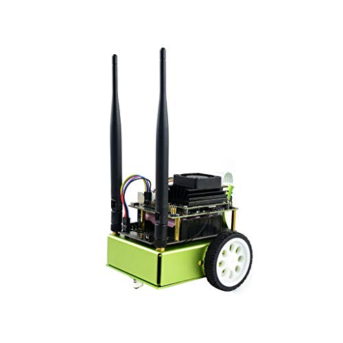 Coolwell Waveshare JetBot AI Kit a Literally Smart Robot Based on NVIDIA Jetson Nano with The Intelligent Eye (Front 160° FOV Camera), Ros Nodes Code and Wireless Gamepad