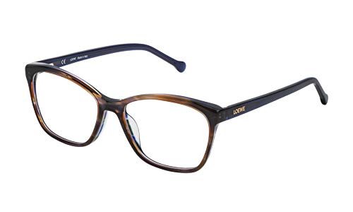 Loewe VLWA07M530931 Monturas de gafas, Shiny Streaked Blue/Green, 55 Unisex