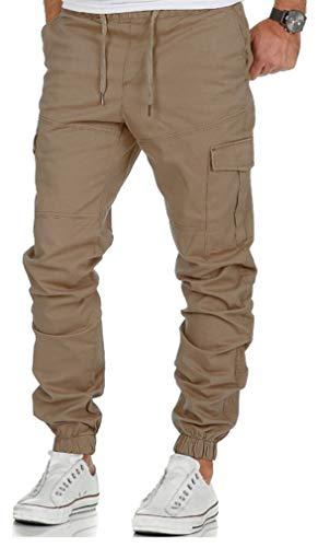 Socluer Pantalones de Trabajo Estilo Cargo para Hombre Pantalones de Hombre Jogger Deportivos Pantalón Casuales de Algodón Pants Sueltos Ocasionales con Bolsillos