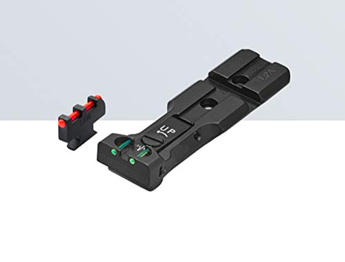 LPA SIGHTS 'Red Dot Ready Fiber Optic Rear Sight and Front...