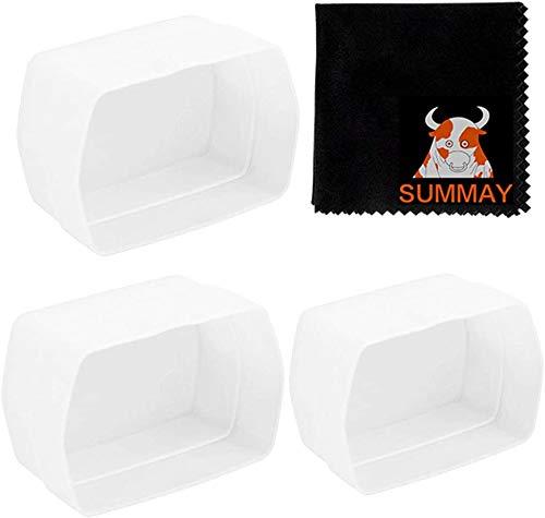 GODOX Blitzdiffusor Dome Bounce – passend für Godox V860II V850II TT685 TT600 Blitzlicht (3 Stück, weiß)