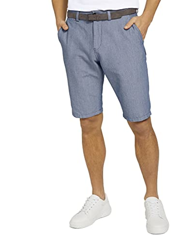 TOM TAILOR Herren 1025034 Josh Chino Bermuda Shorts, 11289-Light Blue Minimal Indigo, 34