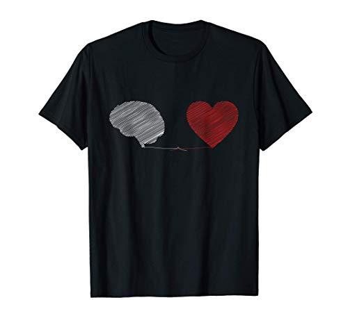 Corazón vs cerebro Mente Alma - Psicología del amor - Regalo Camiseta