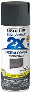 Painters Touch 342061 2X Spray Paint + Primer, Satin Charcoal Gray, 12-oz. - Quantity 6