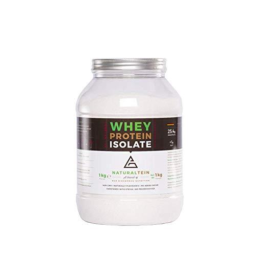 NATURALTEIN Whey Protein Isolate Eiweißpulver Muskelaufbau I Premium Natural Protein Powder Ohne Zusatzstoffe I Ohne künstliche Süßstoffe I natürlicher Geschmack I Erdbeere 1000g