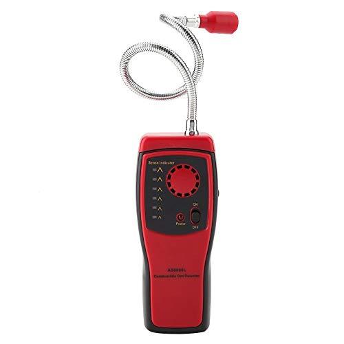 Detector de fugas de gas - SMART SENSOR AS8800L portátil de gas inflamable Detector de fugas de gas natural del analizador del probador
