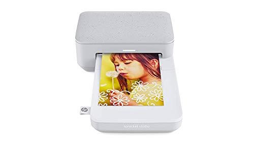 HP Sprocket Studio Stampante Fotografica Istantanea Portatile, Bluetooth 5.0, formato 10x15, compatibile con Android e IOS, Perla
