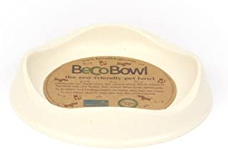 Beco Cat Bowl - Eco Friendly and Dishwasher Safe, Bamboo Food and Water Bowl - Natural
