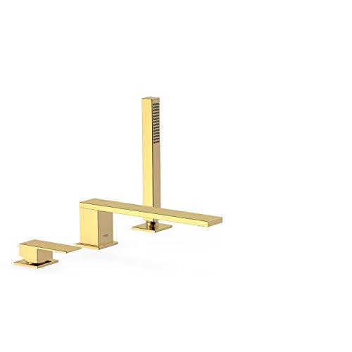 CUADRO EXCLUSIVE Monomando bañera de repisa con ducha anticalcárea. · Caudal: 3 bar – 13 l/m. · Caño de 220 mm.