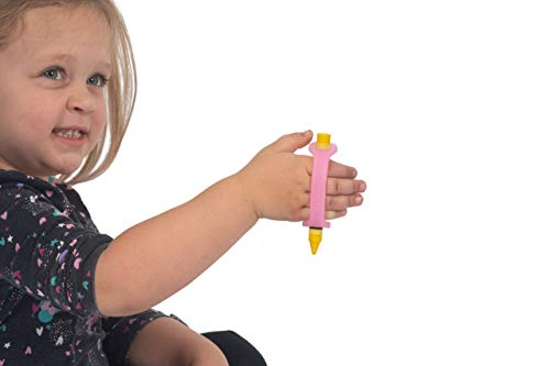 EazyHold Silicone Adaptive Aid (Small Child) for Individuals with Limited Hand Mobility, Cerebral Palsy, Stroke. Perfect for Occupational Therapy or Physical Therapy use (Pink - 4'- 2 Pack)