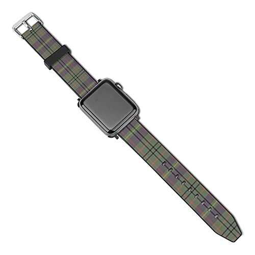 Correa de repuesto para reloj Apple Watch de 38 mm, 40 mm, correa de repuesto para iWatch Series 5/4/3/2/1, Taylor Family Tartan Weathered Mauve