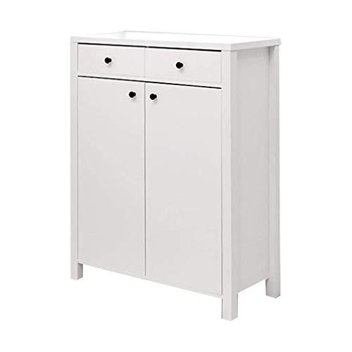 HEMFV Sin pie Gabinete de baño Gabinete de Almacenamiento con 2 cajones 2 Puertas, Gabinete de Almacenamiento de Gran Capacidad (Color : White)
