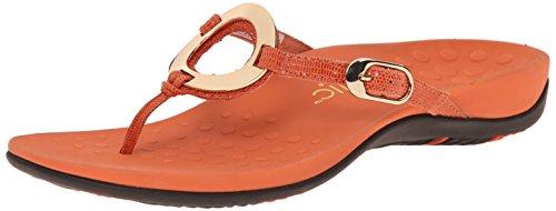 Vionic Women's Rest Karina Toe-Post Sandal - Ladies Flip- Flop with Concealed Orthotic Arch Support Orange 6 M US