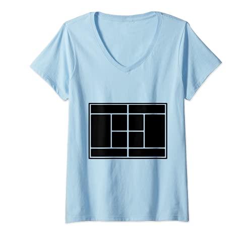 Mujer Pista de tenis Camiseta Cuello V