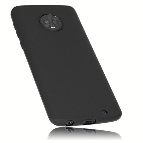 mumbi Hülle kompatibel mit Motorola Moto G6 Plus Handy Hülle Handyhülle, schwarz