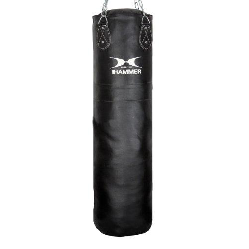 Hammer 92912 Boxsack Premium Leder, schwarz, 120 cm