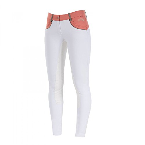 B Vertigo Melissa Mujer hípica para mujer, Bright White/Deep Coral Pink