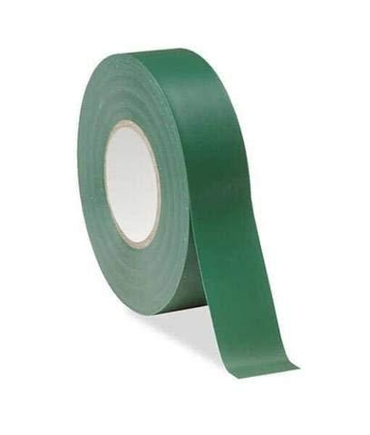 Gocableties, rotolo di nastro per isolamento elettrico in PVC, 20m x 19mm, resistente e di alta qualità, colore verde