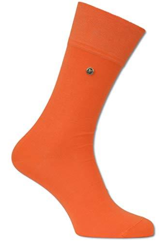 Carlo Colucci Socke ?FIRENZE? aus merzerisierter Baumwolle mit Niete, Orange Orange 39-40