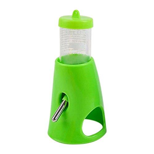 UEETEK Hamster bebe la botella de agua alimentación animales pequeños (verde)