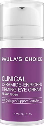 Paula's Choice Clinical Ceramide Oogcrème - Verzacht Fijne Lijntjes & Rimpels - Hydrateert en Versterkt de Huid rondom de Ogen - met Ceramiden, Retinol & Vitamine C - Alle Huidtypen - 15 ml
