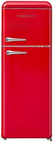 FRIGIDAIRE EFR756 RED EFR756 2 Door Apartment Size RETRO Refrigerator with Top Freezer Chrome product image
