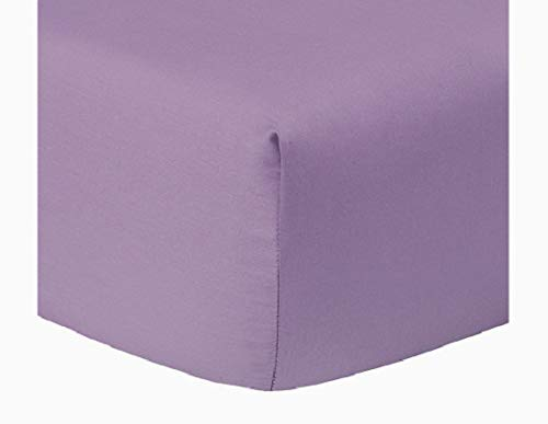 Calico Homes 100% Egyptian Cotton Fitted Sheet 800 Thread Count Solid 1 Piece (Bottom Sheet Only) King Size Sateen Weave 12 inch Deep Pocket Lilac Color