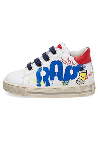 Falcotto NARAT-Sneaker mit Graffiti-Print-Weiß-Rot weiß 24