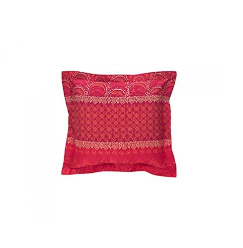 Bassetti Giudecca - Funda de cojín, algodón, R1, 65 x 65 cm, Color Rojo