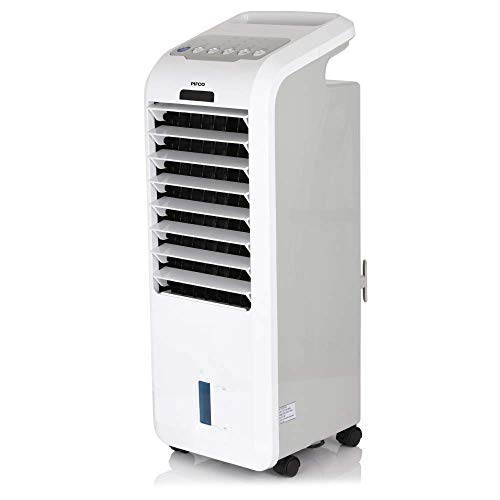 Pifco P40014 Portable 3-In-1 Air Cooler, Fan and Humidifier with 7 Hour Timer, Oscillation Function, 3 Mode Settings Normal, Natural and Sleep, 3 Wind Speed Settings, Remote Control Included, White