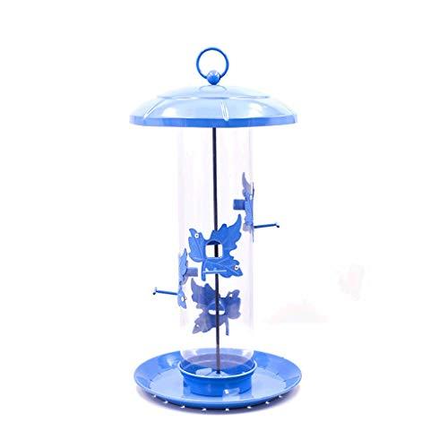 Futterstationszubehör Fütterung von Wildvögel Samenbehälter Bird Feeder Tube Tube Plastic Feeder Transparent Feeder Tiernahrungsspender