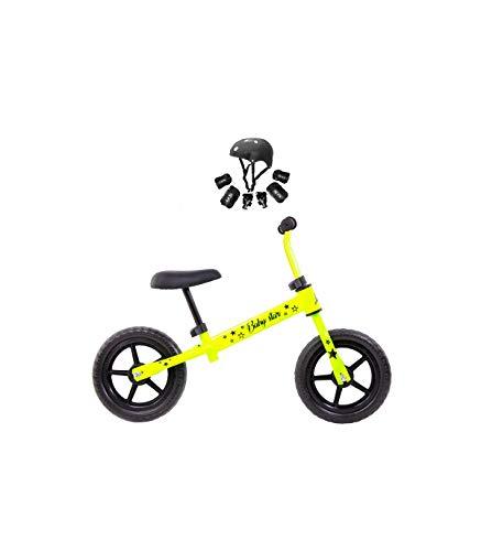 Grupo K-2 Riscko - Bicicleta sin Pedales con sillín Y Manillar Regulables | Ultraligera | Correpasillos Minibike | Bicicleta para Niños de 2 a 5 años Baby Star Amarillo Fluor