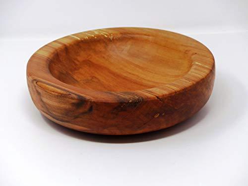 Holzschale rund aus altem gestocktem Apfel Holz - ∅ ca. 23 cm - H: ca. 6 cm handgemacht gedrechselt Schale Obstschale
