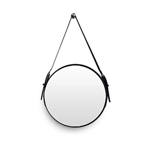 Miroir Maquillage Miroir Salle De Bains Miroir Tenture Pendentif Décoratif Ceinture Suspendu Miroir Hexagonal HD Dressing Mirror Miroir en Verre Style Nordique (Color : Black, Size : 70 * 70CM)