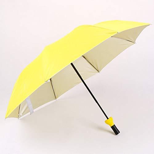 NJSDDB paraplu Nieuwe Creatieve Vrouwen Wijnfles Paraplu 3 Vouwen Zonne-regen UV Mini Paraplu Voor Vrouwen Mannen Geschenken Regenkleding Paraplu verkoop, Geel