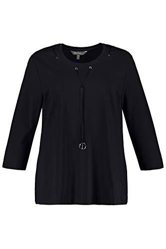 Ulla Popken Damen große Größen Sweatshirt Marine 54/56 727199 70-54+