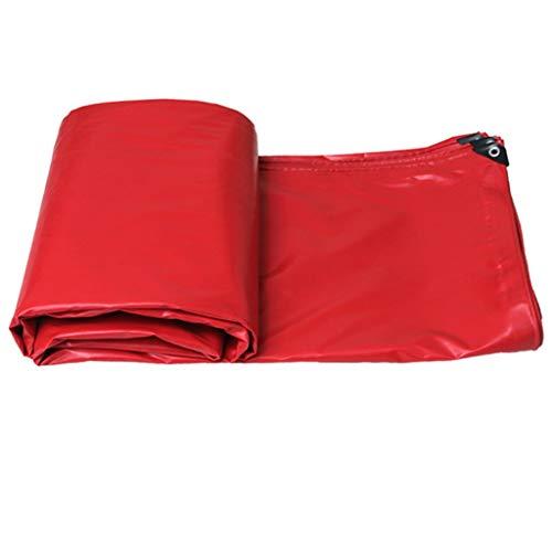 TrNCEE waterdicht zonwering zeil van dik PVC waterdicht vloerbedekking camping gemakkelijk opvouwbaar – ca. 520 g/m2 3x2m (10ft x 6.5ft)