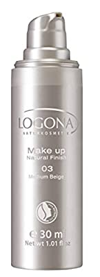 Logona Natural Finish Foundation, Medium Beige 30 ml