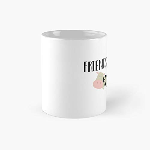 Friends Not Food - Animals Classic Mug A Novelty Ceramic Cups Inspirational Holiday Gifts For Morther's Day, Men & Women, Him Or Her, Mom, Dad, Sister, Brother, Coworkers, Bestie.